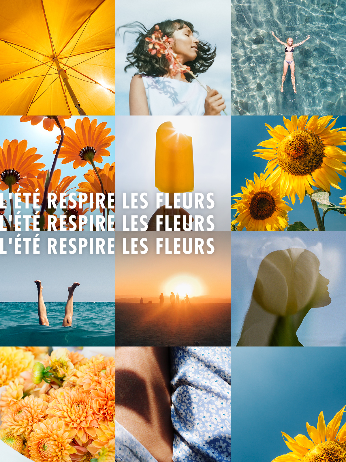L'été respire les fleurs